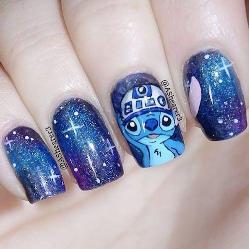 Nail Art Stitch: Lilo Stitch Star Wars Nail Art Premiere