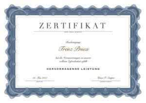Zertifikat Hier Gestalten Zertifikat Vorlage