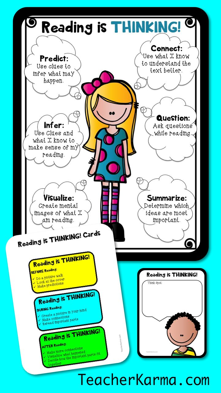 - Comprehension And Metacognition, Reading Is THINKING, Good Readers