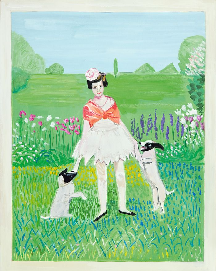 Photos Of Girls Standing On Lawns By Maira Kalman Maira Kalman Art Beloved Dog