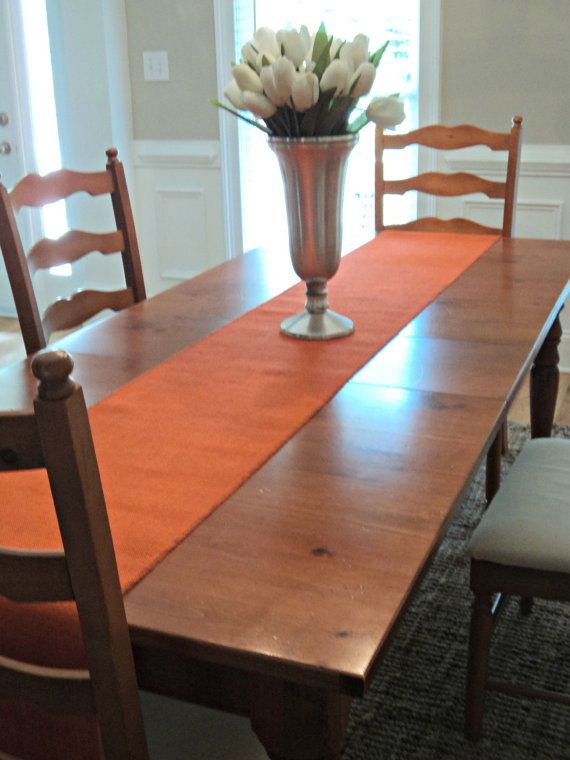 Rich, Bright And Bold This Orange Burlap Table Runner Will Make A Beautifulu2026