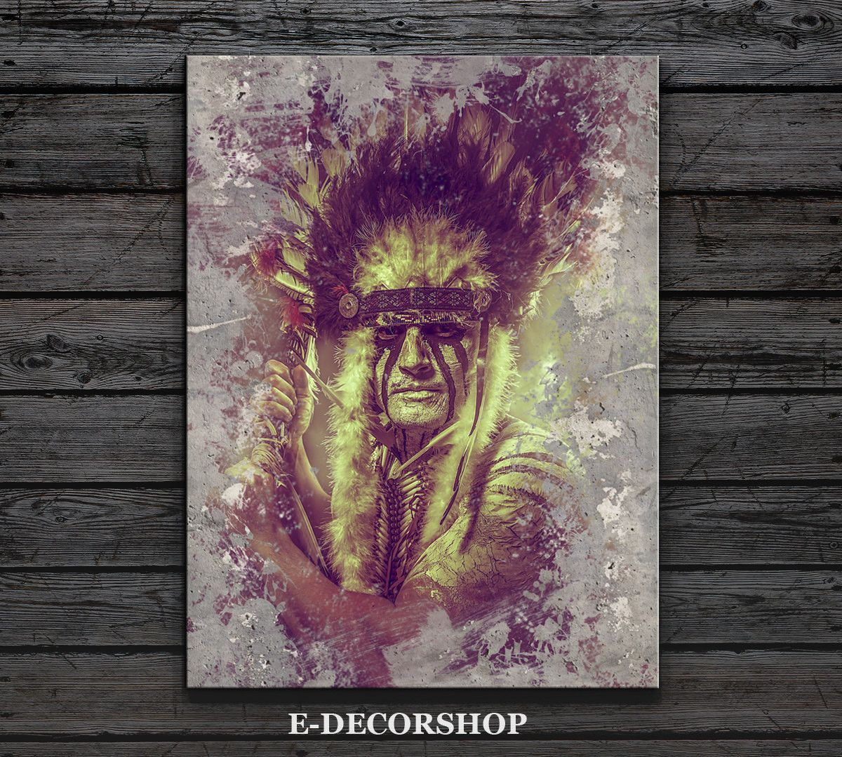 American Indian Canvas ART Print | Native American Chief Canvas ...