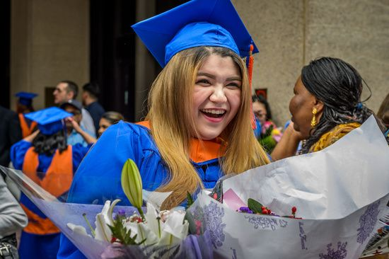 Today thousands of graduate students had therir graduation ceremony at Madison Square Garden.