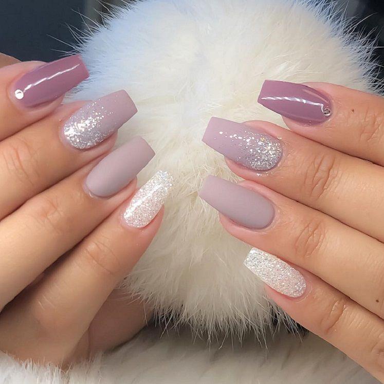 54 Beautiful and romantic nail art design ideas - mix-matched nails, nude nails ,nail acrylic ,nails #nailart #nails #manicure #nail
