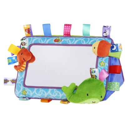 Taggies Tag \'n Smile Plushie Mirror - Neutral $17.99 | ❤ Taggies ...