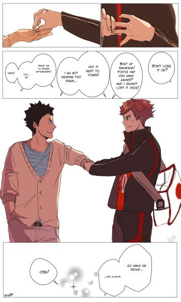 iwaizumi, oikawa, ring, national japanese volleyball team uniform, Faiyuuhi, http://faiyuuhi.tumblr.com/post/141516287852/youre-my-partner-that-i-can-be-proud-of-always