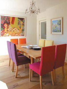 Comedores con sillas de colores originales y alegres - Comedores originales ...