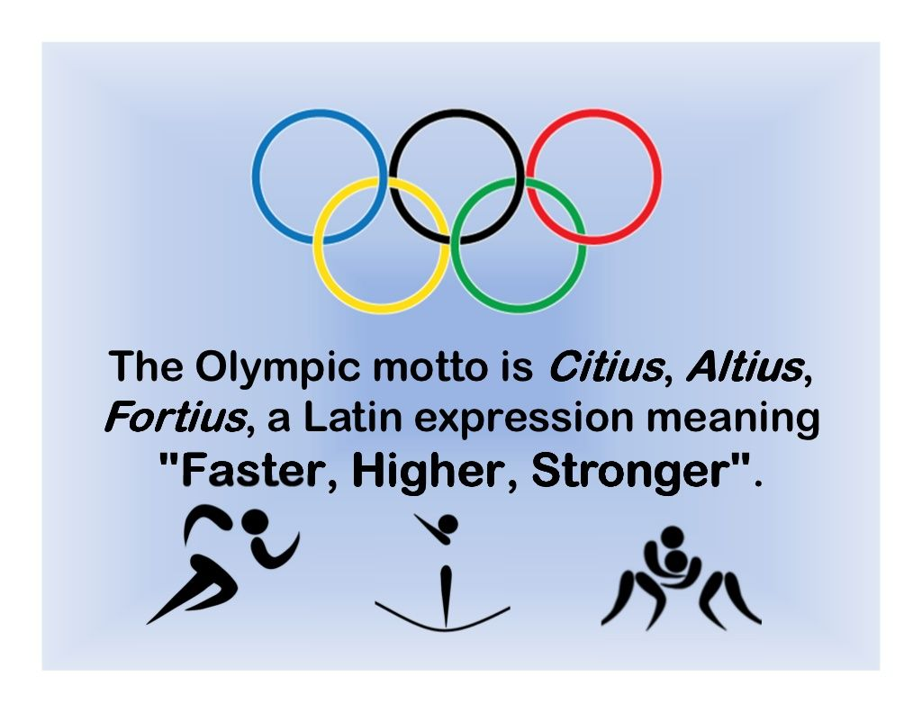 The olympic motto is citius altiusfortius a latin expression the olympic motto is citius altiusfortius a latin expression meaning faster buycottarizona