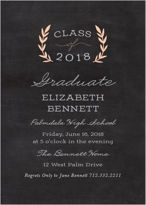 Graduation party invitations of simple drawing invitation templates