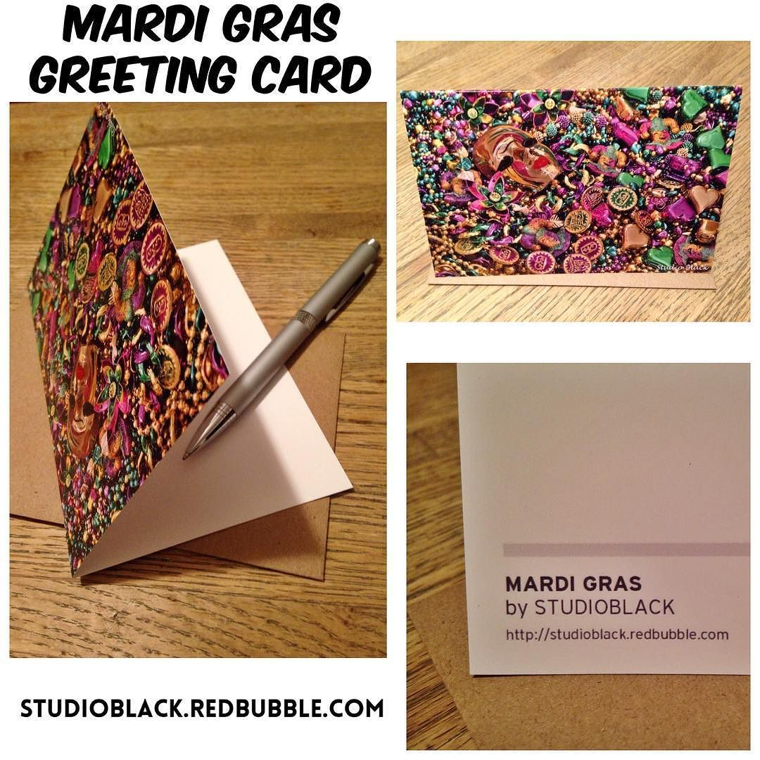 Mardi Gras Greeting Card Features 300gsm Card With A Satin Finish
