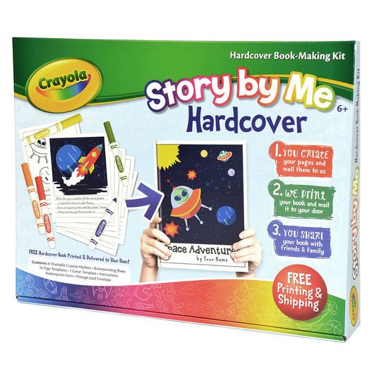 Crayola Story By Me Hardcover Book Making Kit