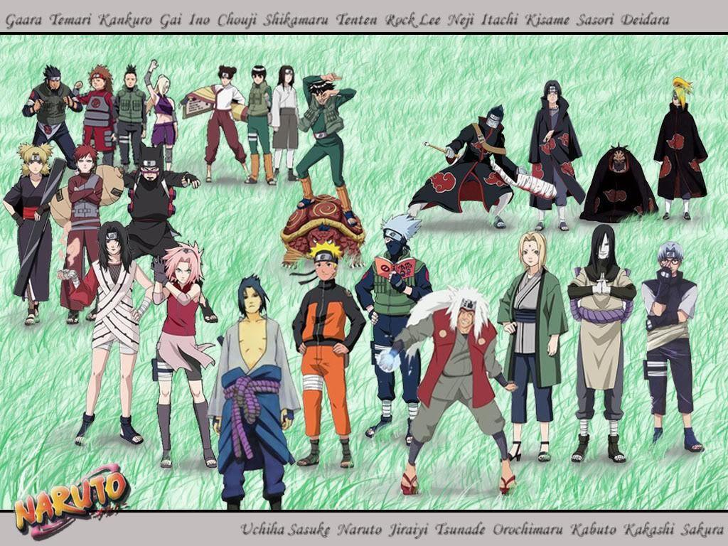All Naruto Characters All Naruto Characters Wallpaper