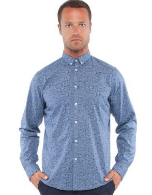Ben Sherman - LS Floral Chambray Shirt - Casual shirts (Blue Denim)
