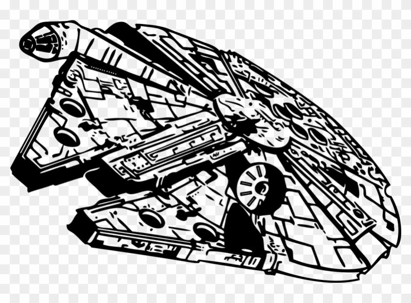 Millennium Falcon Star Wars Stencil Clip Art Black And White Star Wars Hd Png Download Star Wars Stencil Black And White Stars Star Wars Art