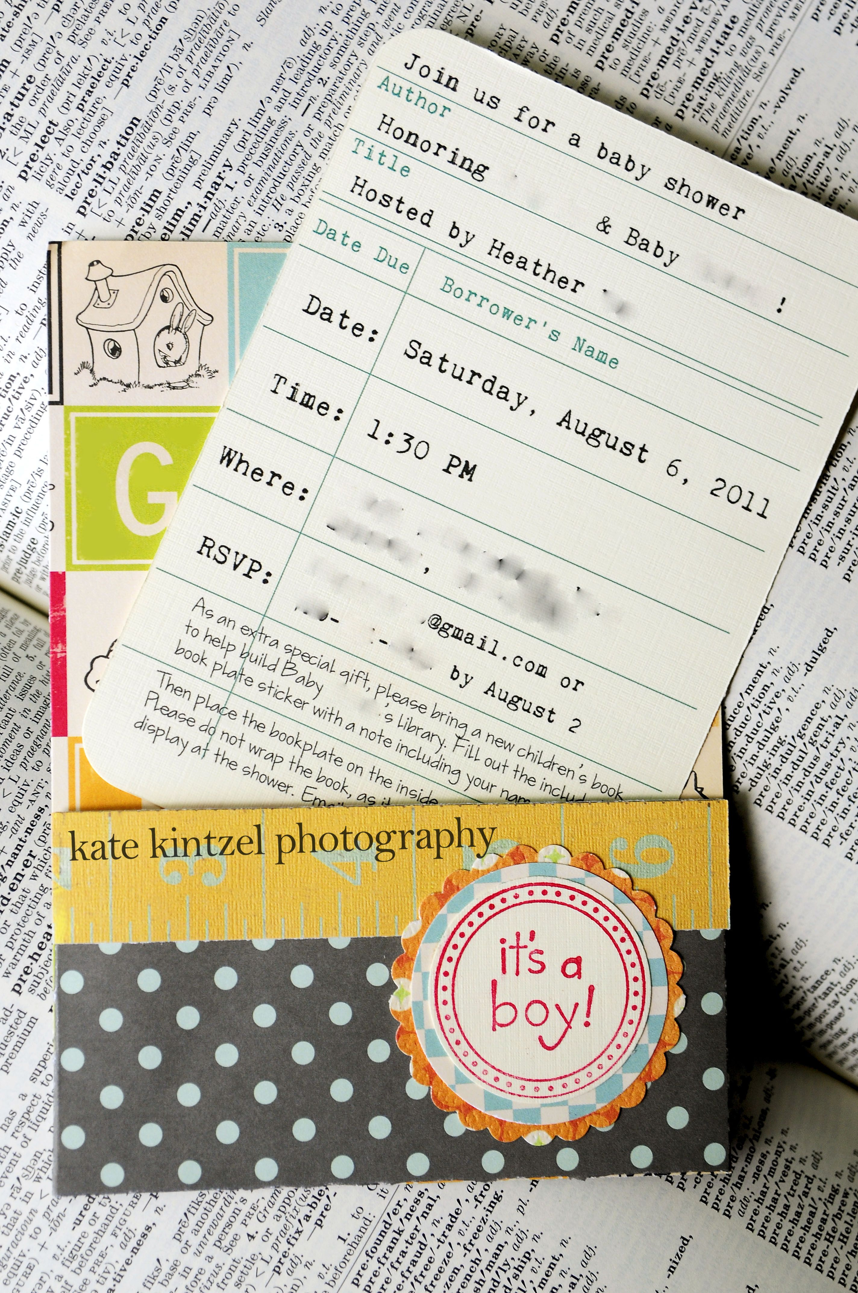 Very Cute Invitations For Any Sort Of Party Library CardsLibrary