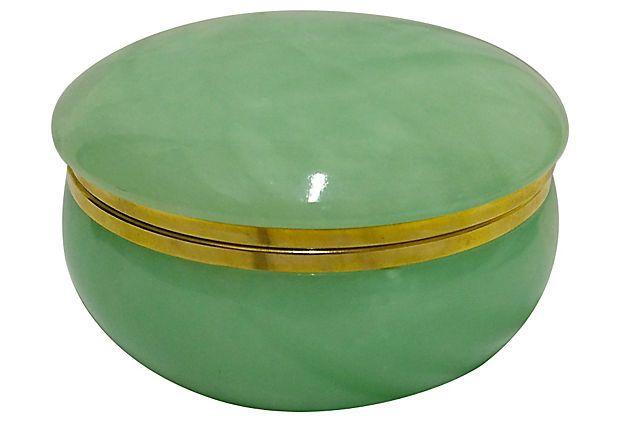 1910 1950 Green Italian Alabaster Box From Italy Alabaster Box