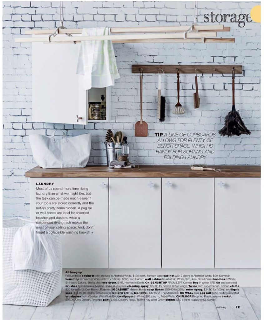 Kitchen Magazine Rebel Walls Well Worn Brick Mural Kitchen Setting In Real Living