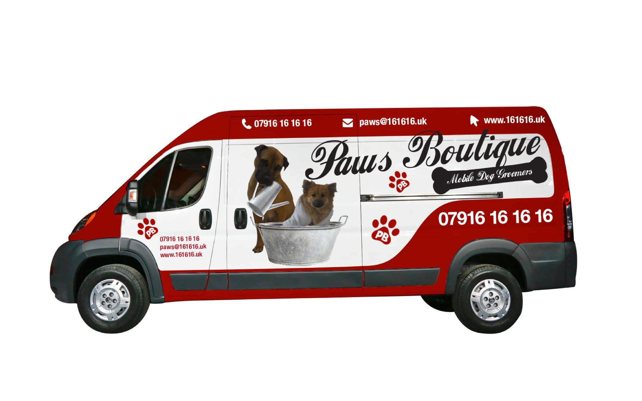 Pin on Dog Grooming van