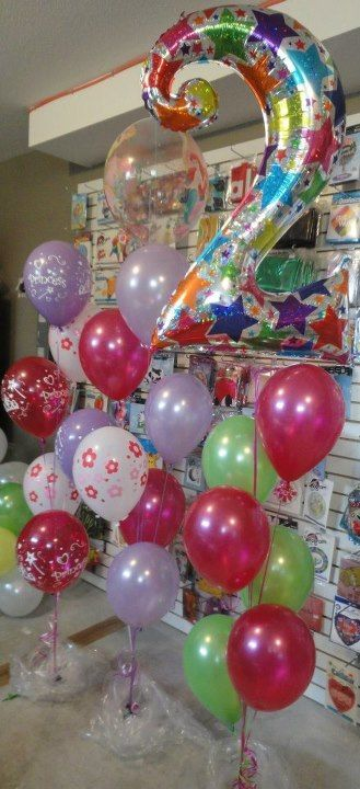 2nd Birthday balloon bouquets Perfect Sense Balloons Pinterest
