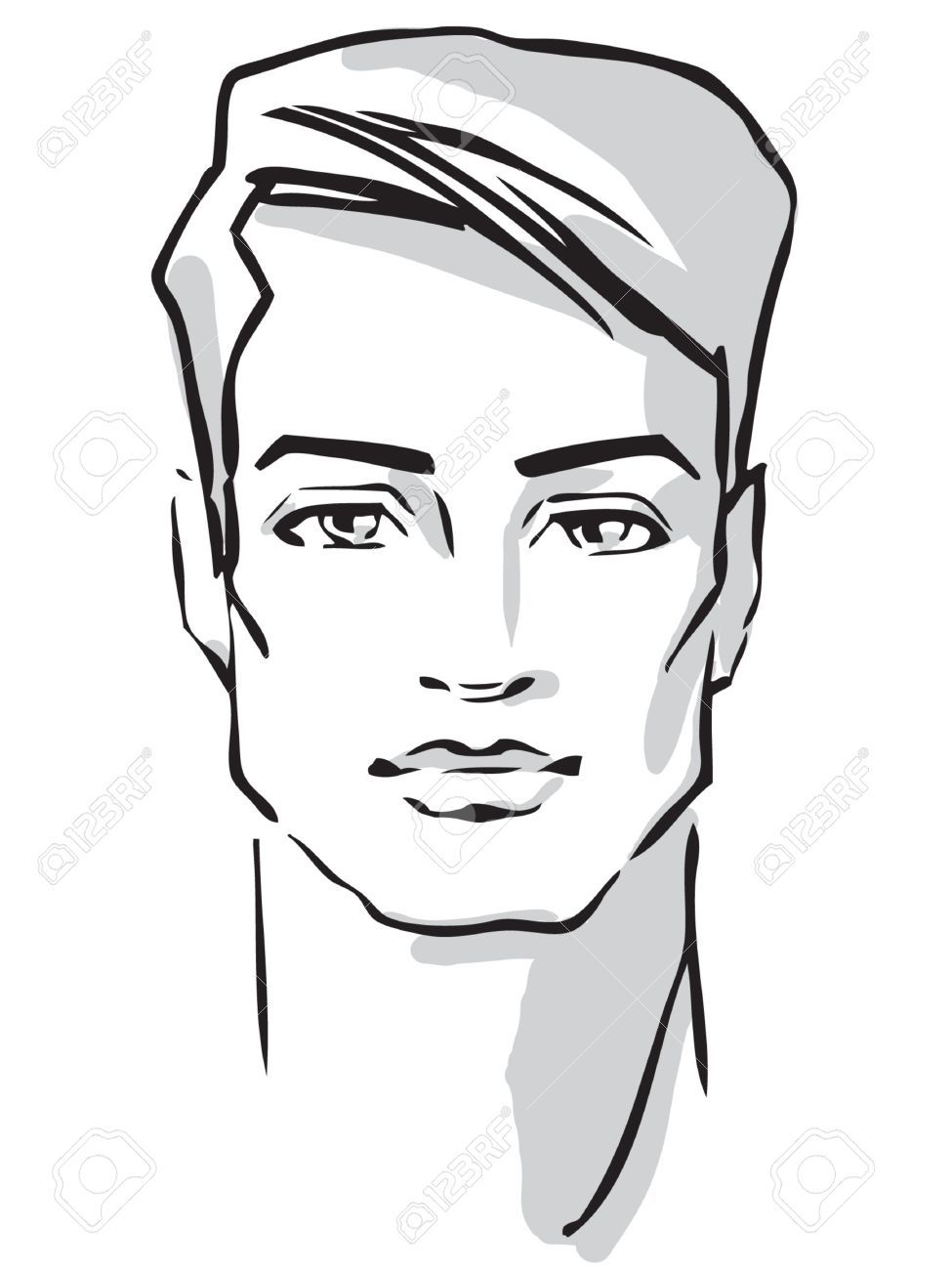 Male Face Drawing Google Search With Images Male Face
