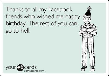Facebook Birthday Thanks Funny Pinterest – Facebook Birthday Greeting Cards