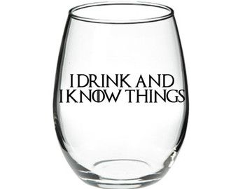 I drink and I know things Game of Thrones by DanniBeCollection