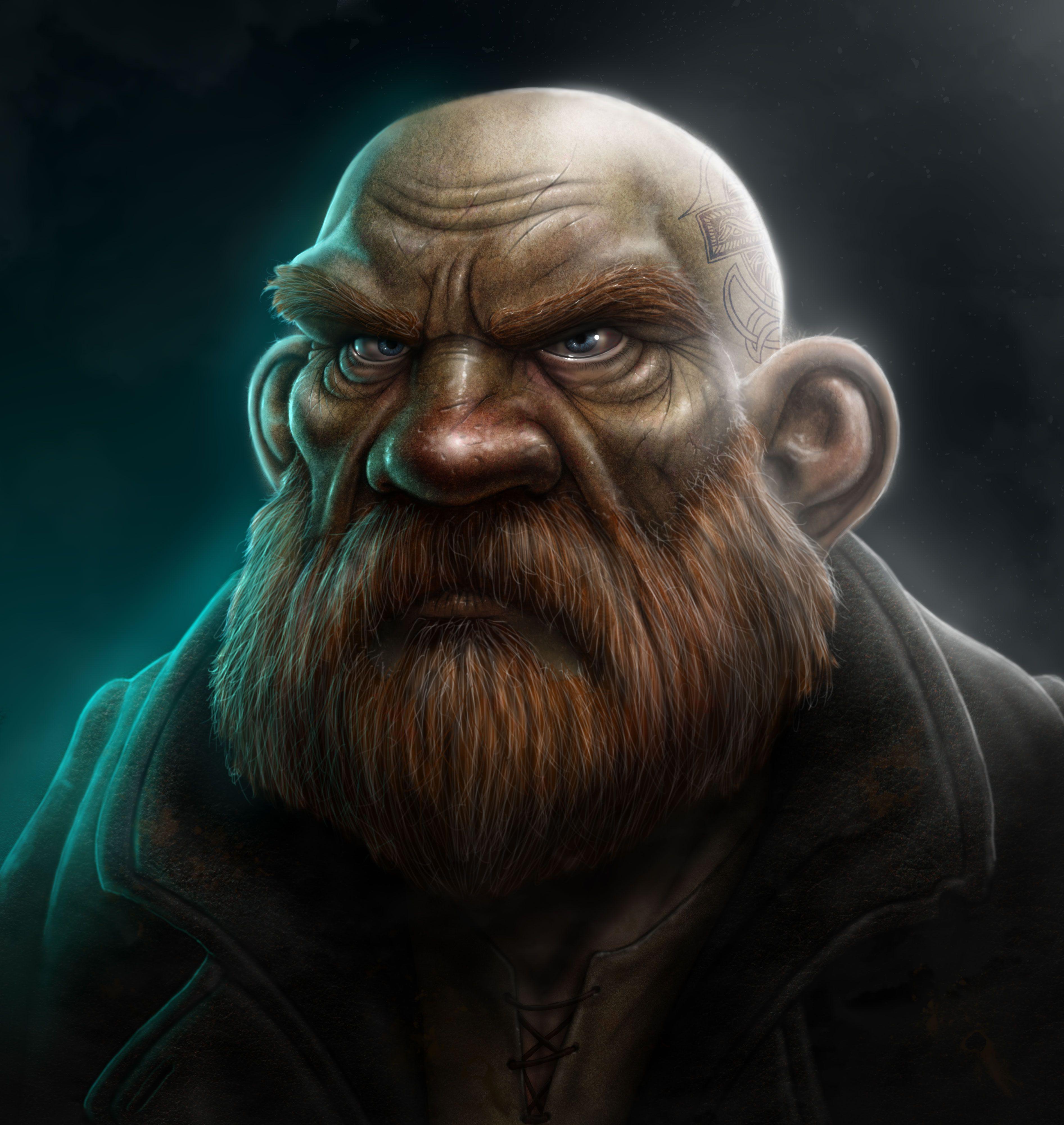 Dwarf by SaeedRamez on DeviantArt |Dwarf Male Portrait