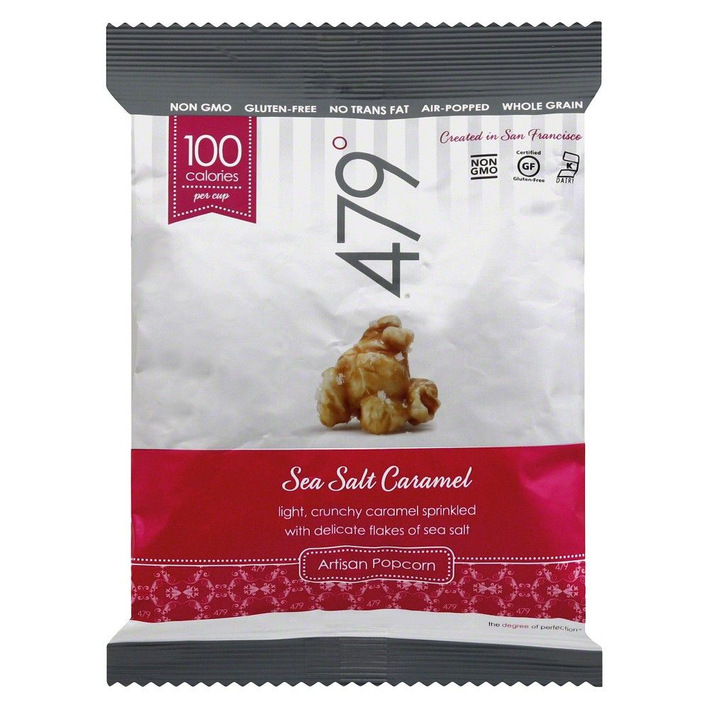 479 Degrees Sea Salt Caramel Artisan Popcorn - 1.25 oz (Pack of 24)