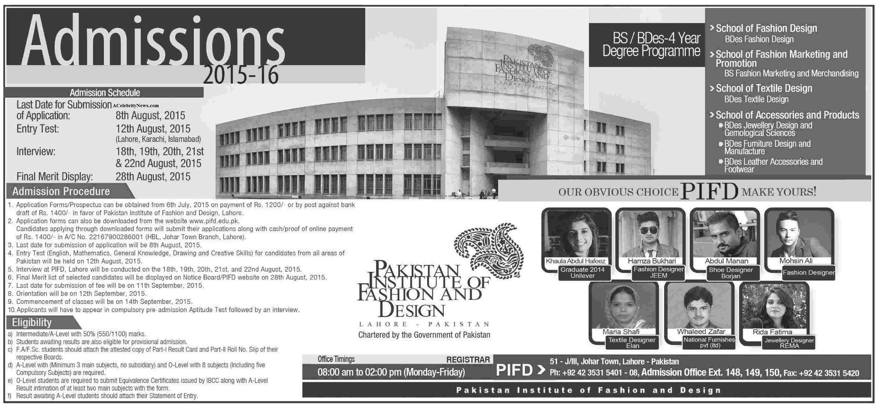 Bs Fashion Design Admission In Pakistan Institute Of Fashion And Design Lahore Acelebritynews Bs Fashion Design Admission Pa Admissions Fashion Design Design