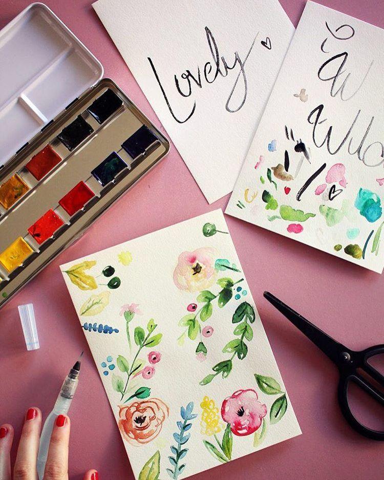 Instagram Peindre A L Aquarelle Diy Pinceau