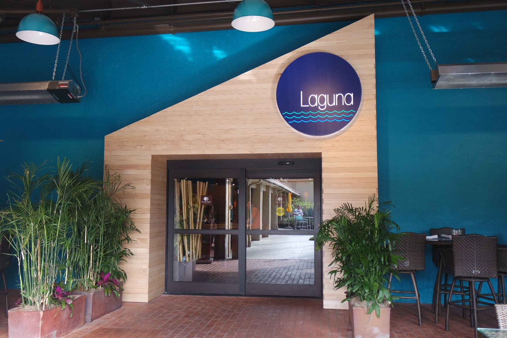 Laguna is conveniently located just outside the main lobby Choose