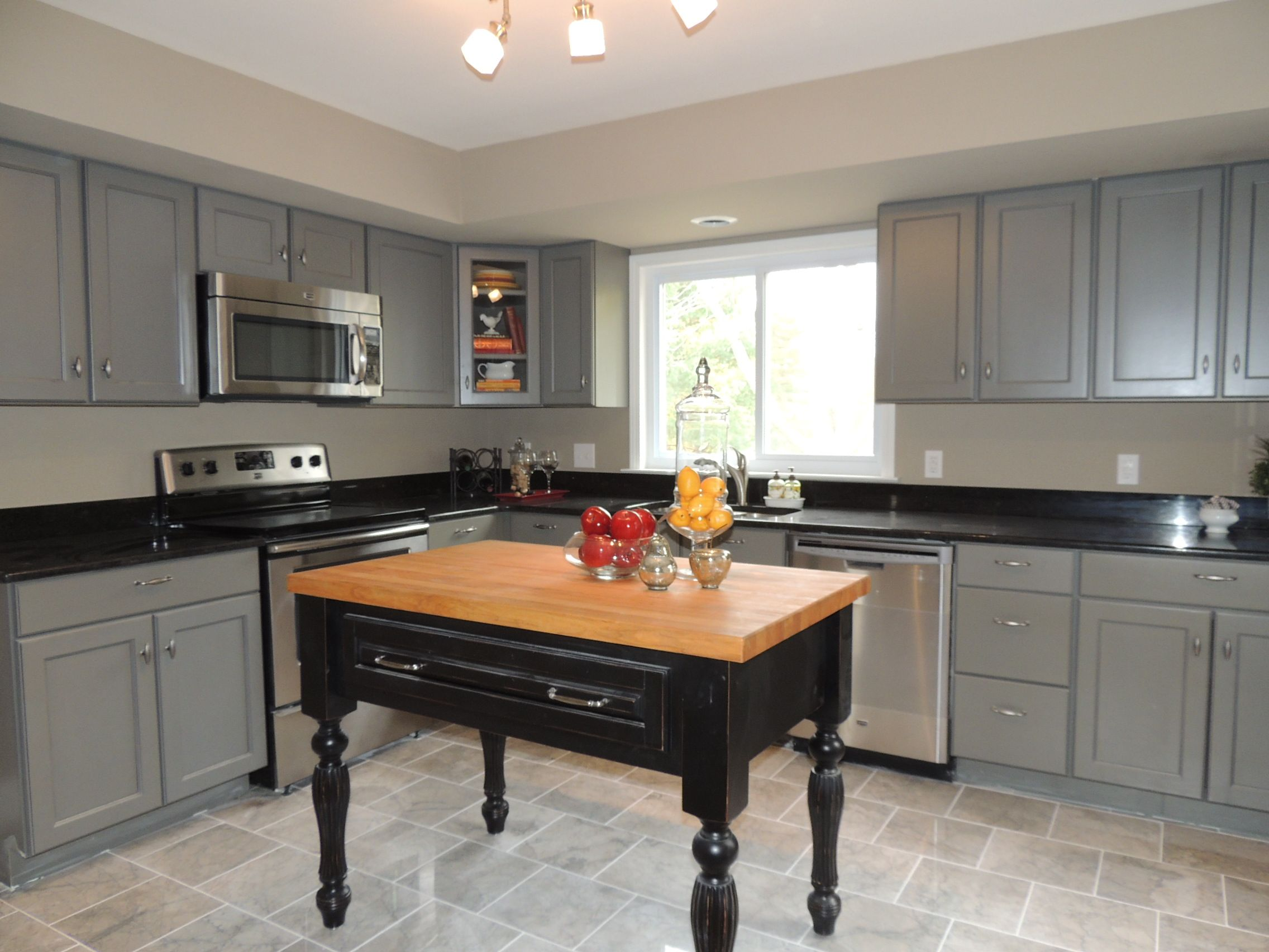 Mid Continent  Grey Cabinets  Kitchen & Bath Remodels Classy Kitchens With Grey Cabinets 2018
