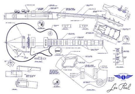 Resultado de imagen para guitar les paul blue print