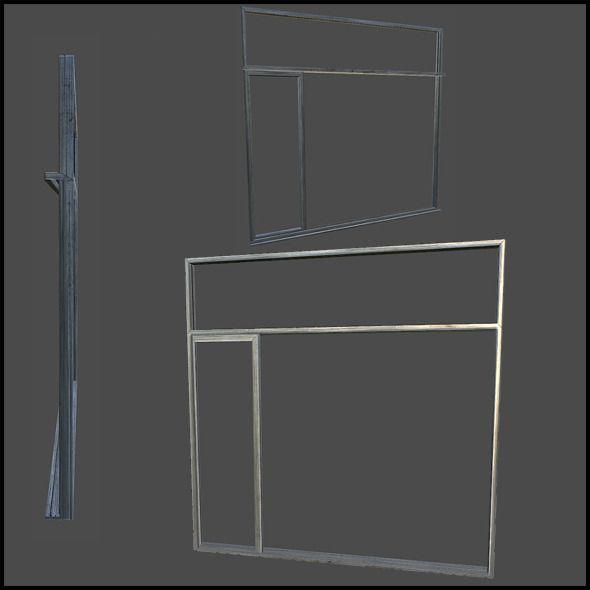 Metal Door Frame  3D model of a city  #3D #3DModel #3DDesign #crane