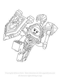 macy from legos nexo knights free printable coloring page
