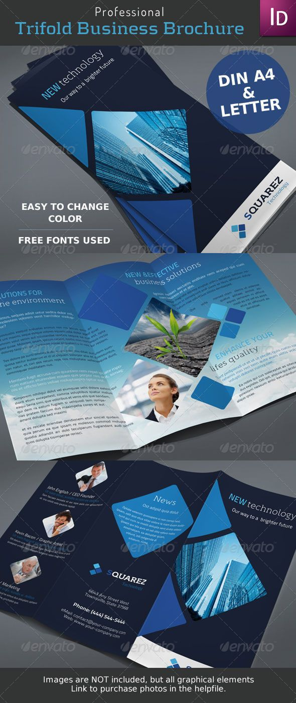 business trifold brochure graphicriver item for sale for visual