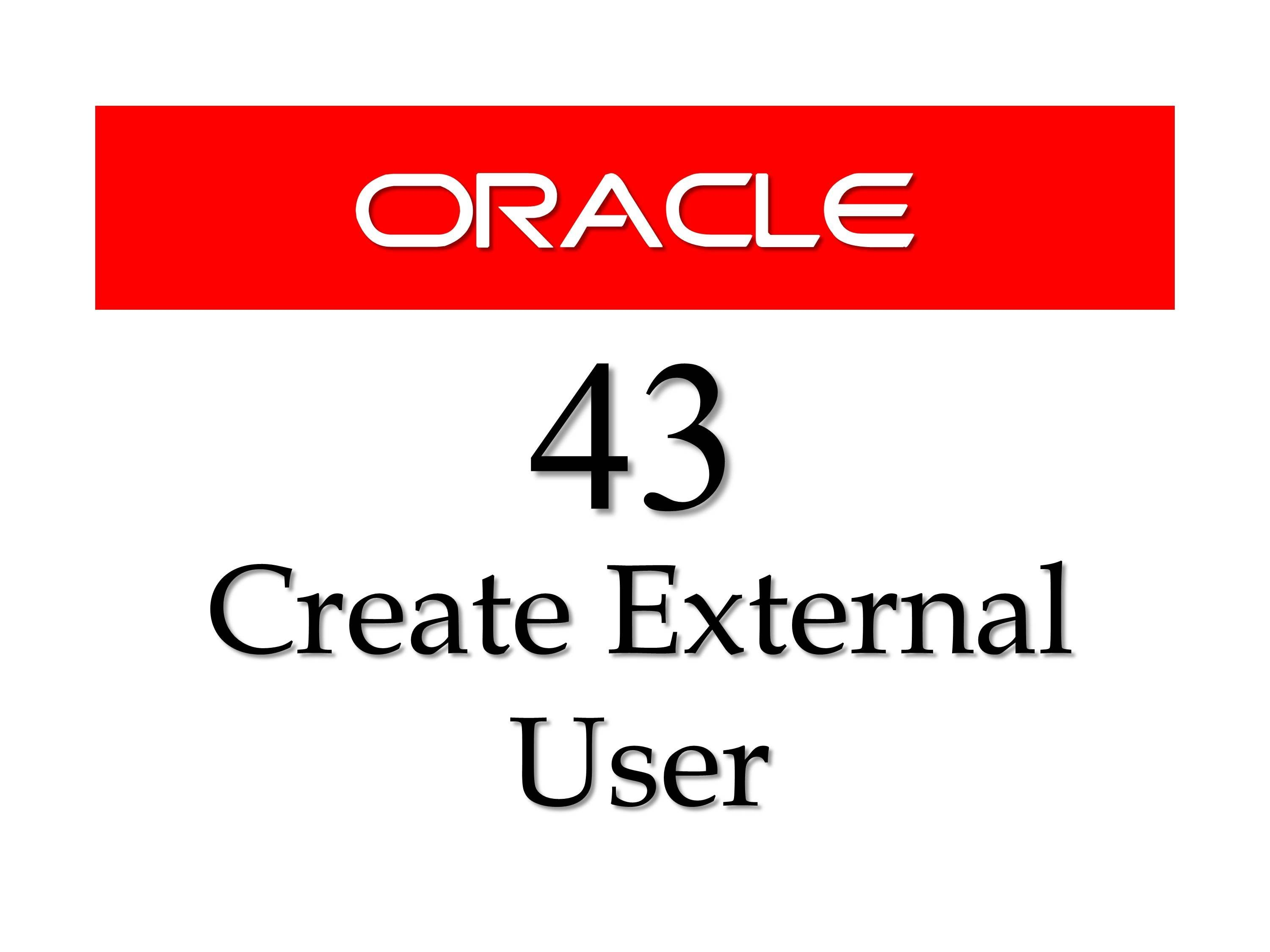 Sql tutorial 43 how to create an external user in oracle database learn another dba trick in this tutorial you will learn how to create an user actually an external user schema being an oracle dba you must know how to baditri Images