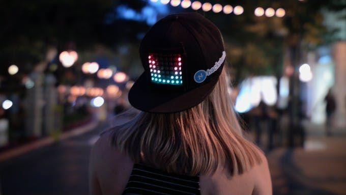 Customizable Led Display Hat Hackster Io Wearable Electronics Hats Fabric Shears