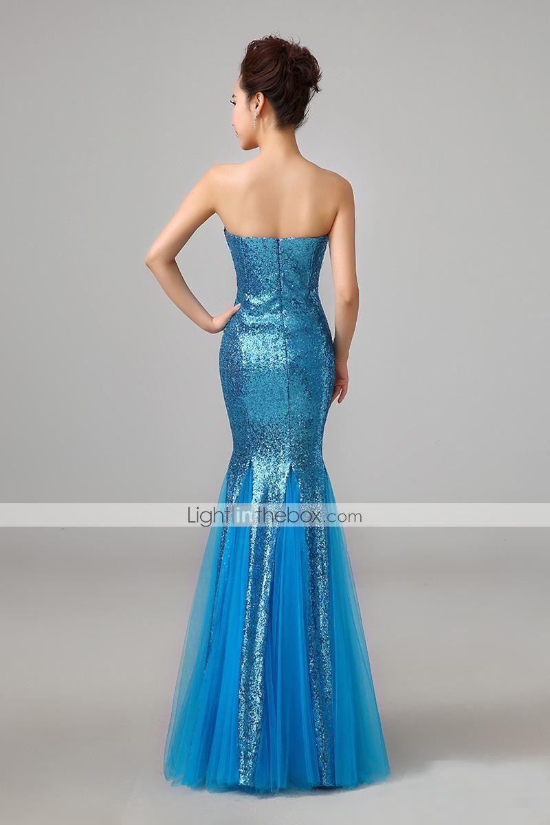 27b34f27f25 Trumpet Mermaid Strapless Floor-length Sequins Evening Dress - USD   94.99
