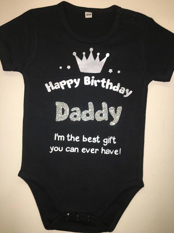 95ef73b3 Happy birthday daddy /grandma Baby Onesie//Custom Baby Shower   etsy ...