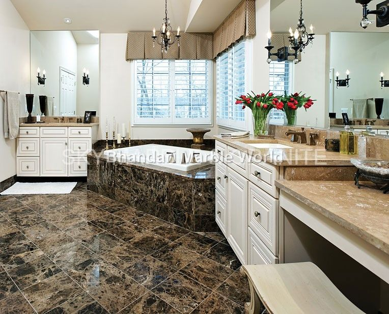Dark Emperador Marble We Are Manufacturer Exporters And Suppliers In India You Can Contact Us Riico I Dark Emperador Marble Tile Bathroom Emperador Marble