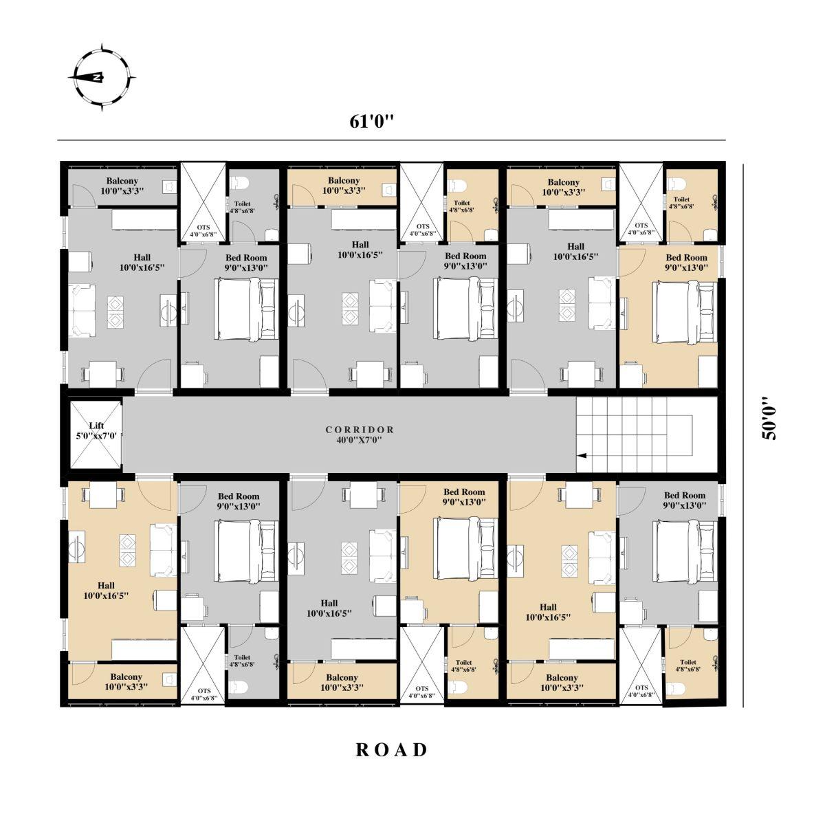 Hotel Layout Made On Floorplanner Com Floor Plans Create Floor Plan Interior Design Software