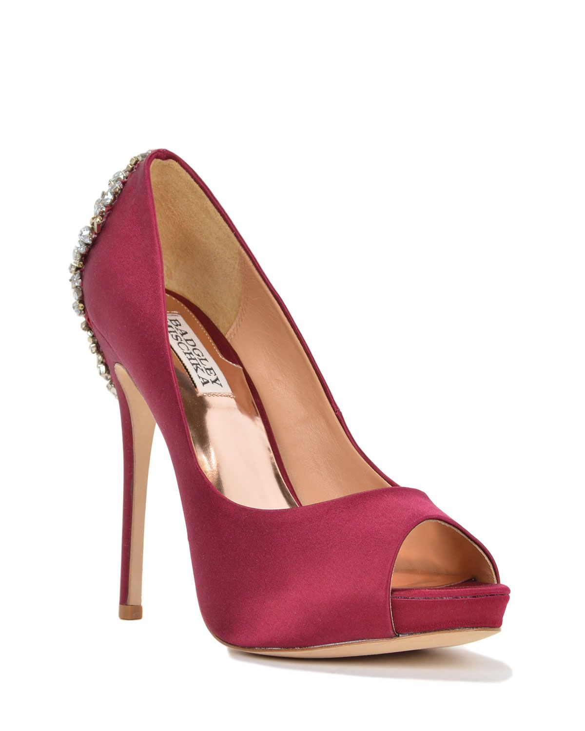 Kiara by Badgley Mischka | Peep toe pumps, Peep toe, Badgley