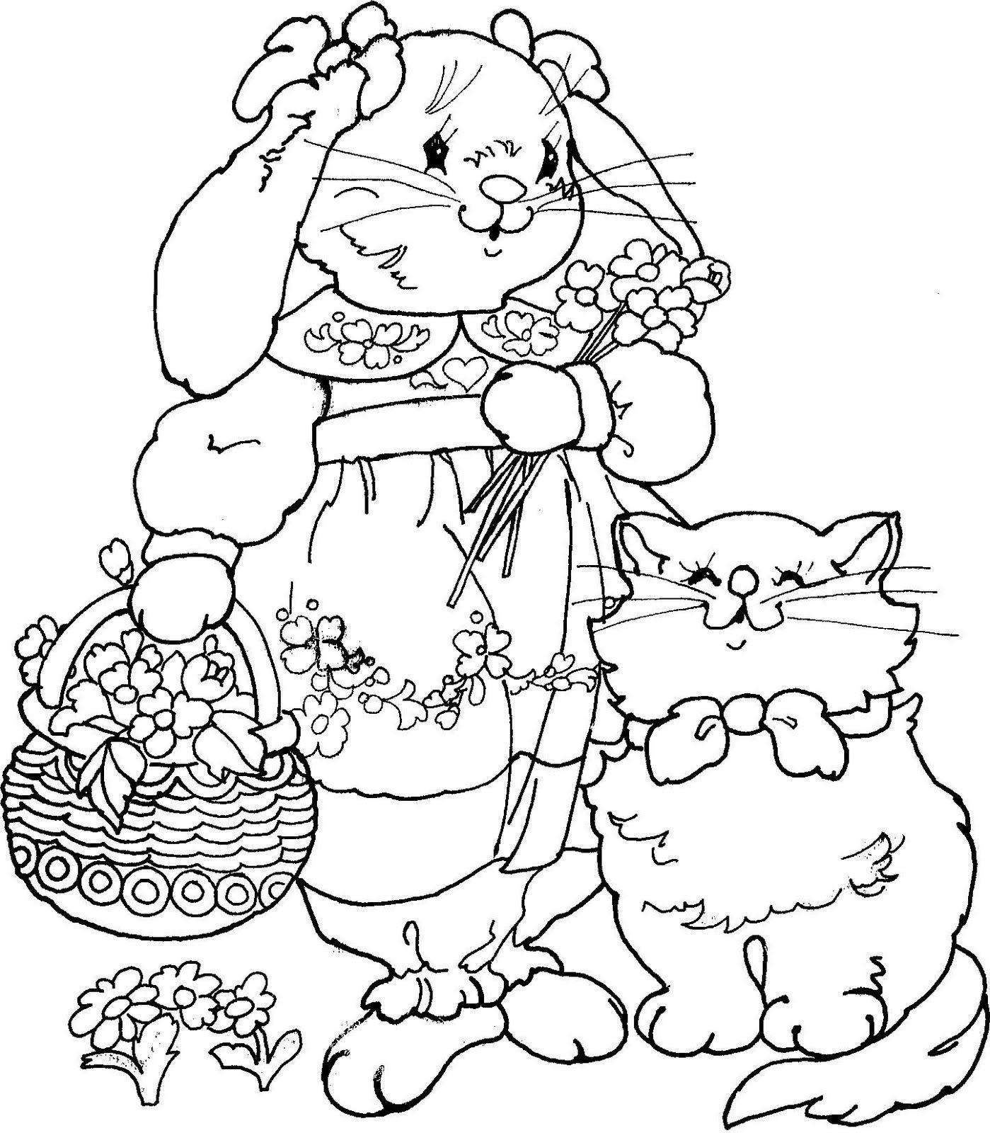 Haas En Cat Kleurplaten Digi Stempels Patronen