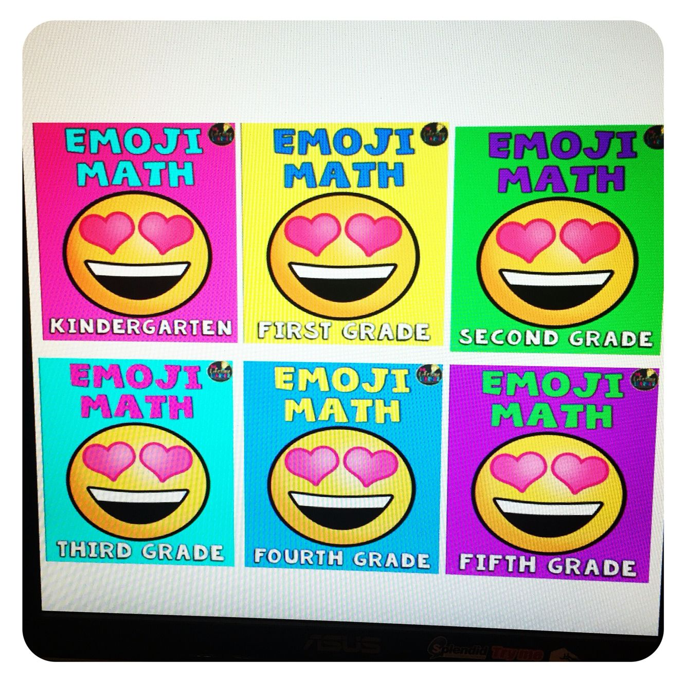 Emoji Math Packets For Grades K 5 Aligns To Common Core