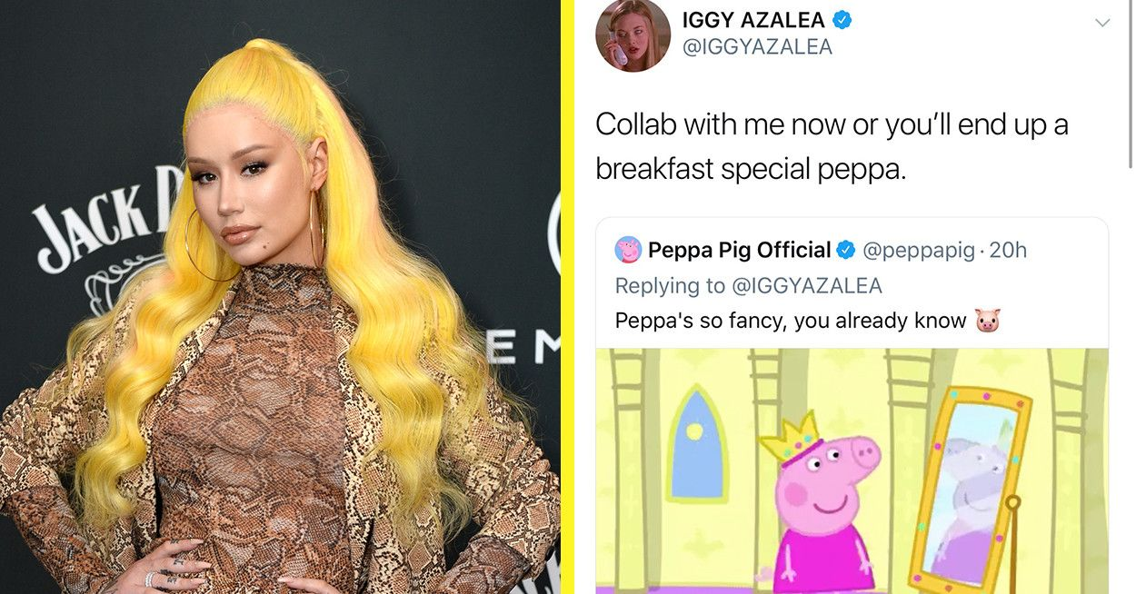 Iggy Azalea And Peppa Pig Are Having The Unlikeliest Twitter Exchange Right Now And It S Actually Hilarious Iggy Azalea Peppa Pig Debut Album
