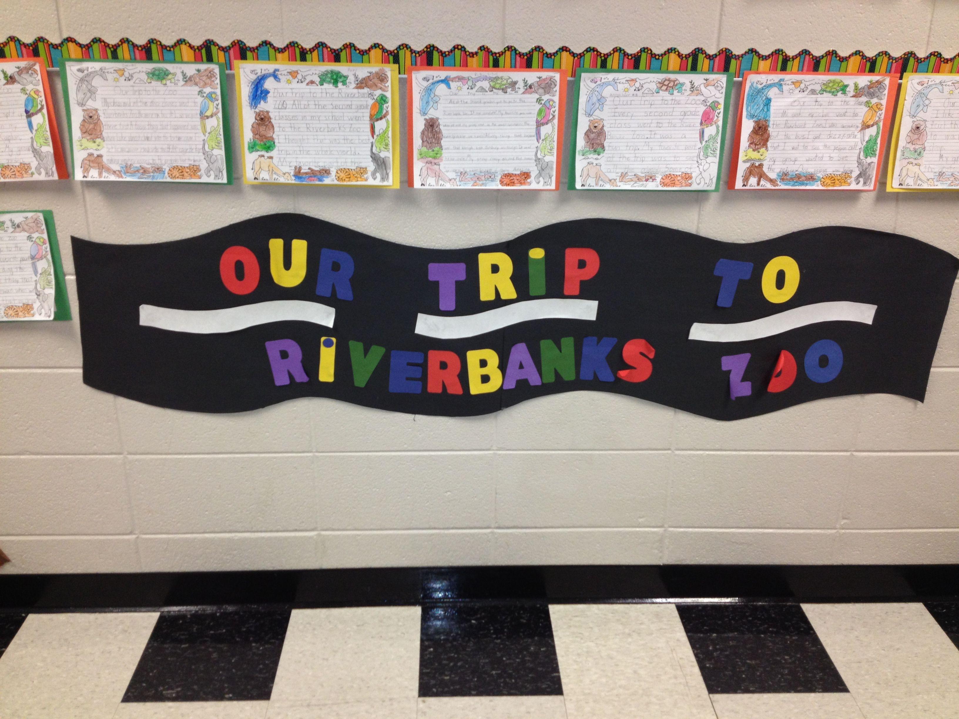 Zoo Field Trip 2nd Grade Bulletin Board Hallway