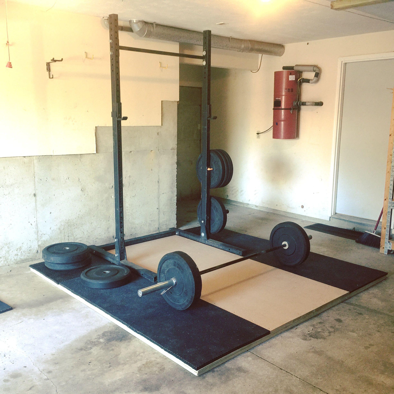garage gym weightlifting platform