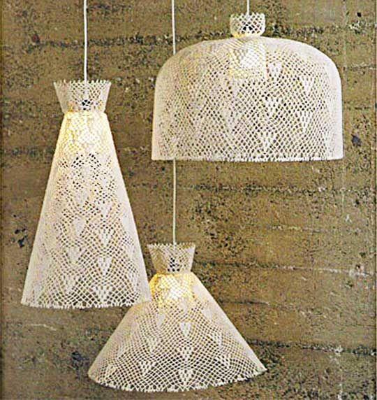 crochet pendant lamps luminaires multi luminaire et deco rideau. Black Bedroom Furniture Sets. Home Design Ideas