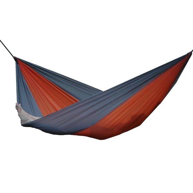 Vivere PAR16 Parachute Nylon Single Hammock in Grey/Orange